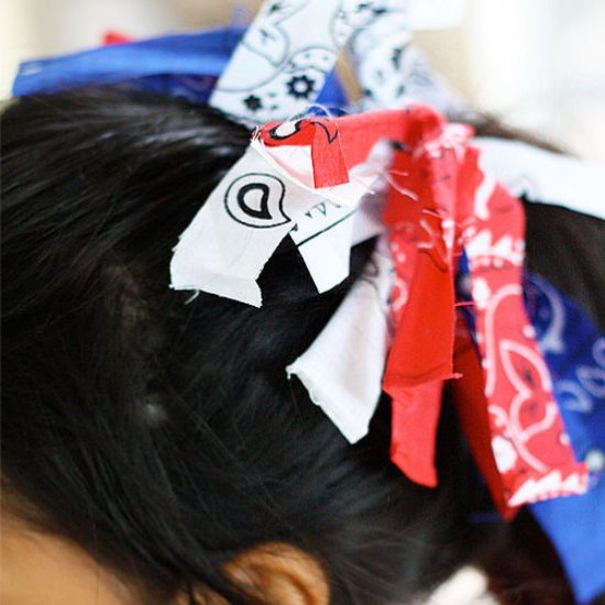 Fourth of July Ponytail Holders