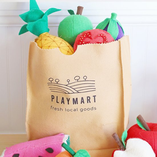 Felt Play Grocery Bags