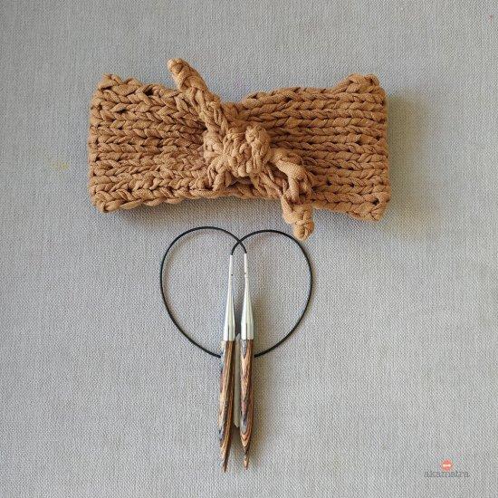 Knotted headband knit pattern