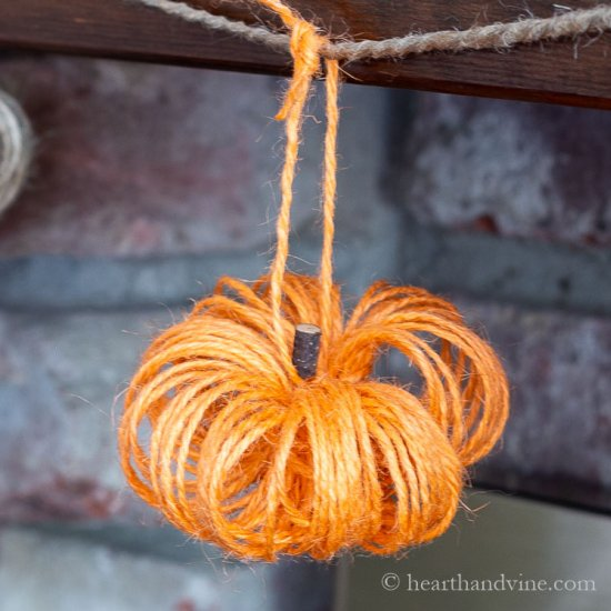 Make a Pumpkin Garland with Twine
